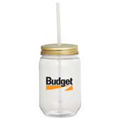 Mason Jar 22-oz. with Gold Tin Lid