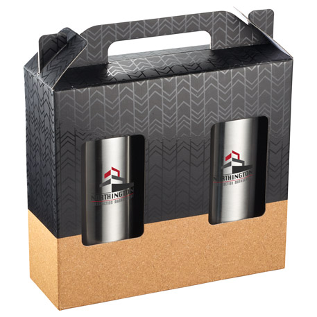 Valhalla Copper vacuum Insulated Gift Set with Cor