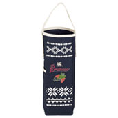 Fair Isle Wine Tote with Opener