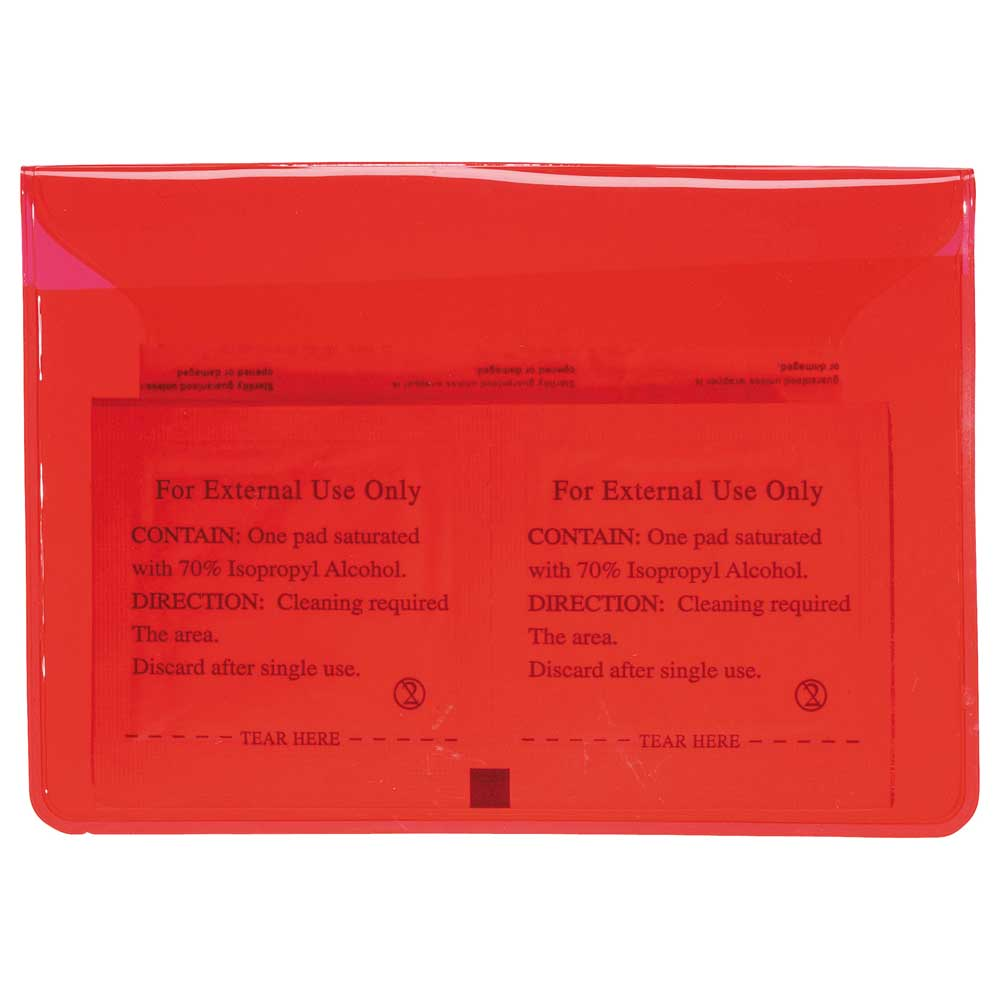 In Clear First Aid Pack Transparent Red