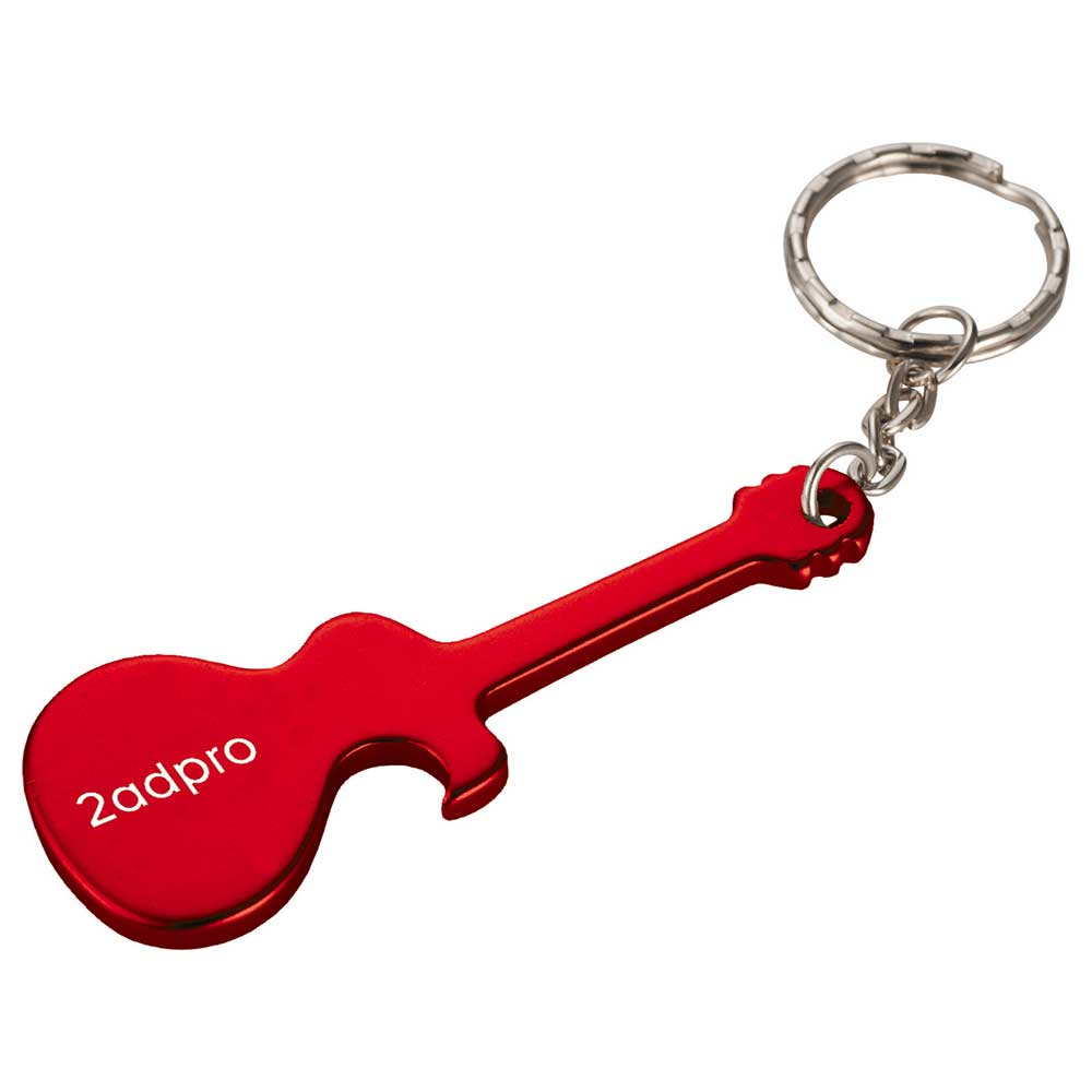 Guitar Bottle Opener Red