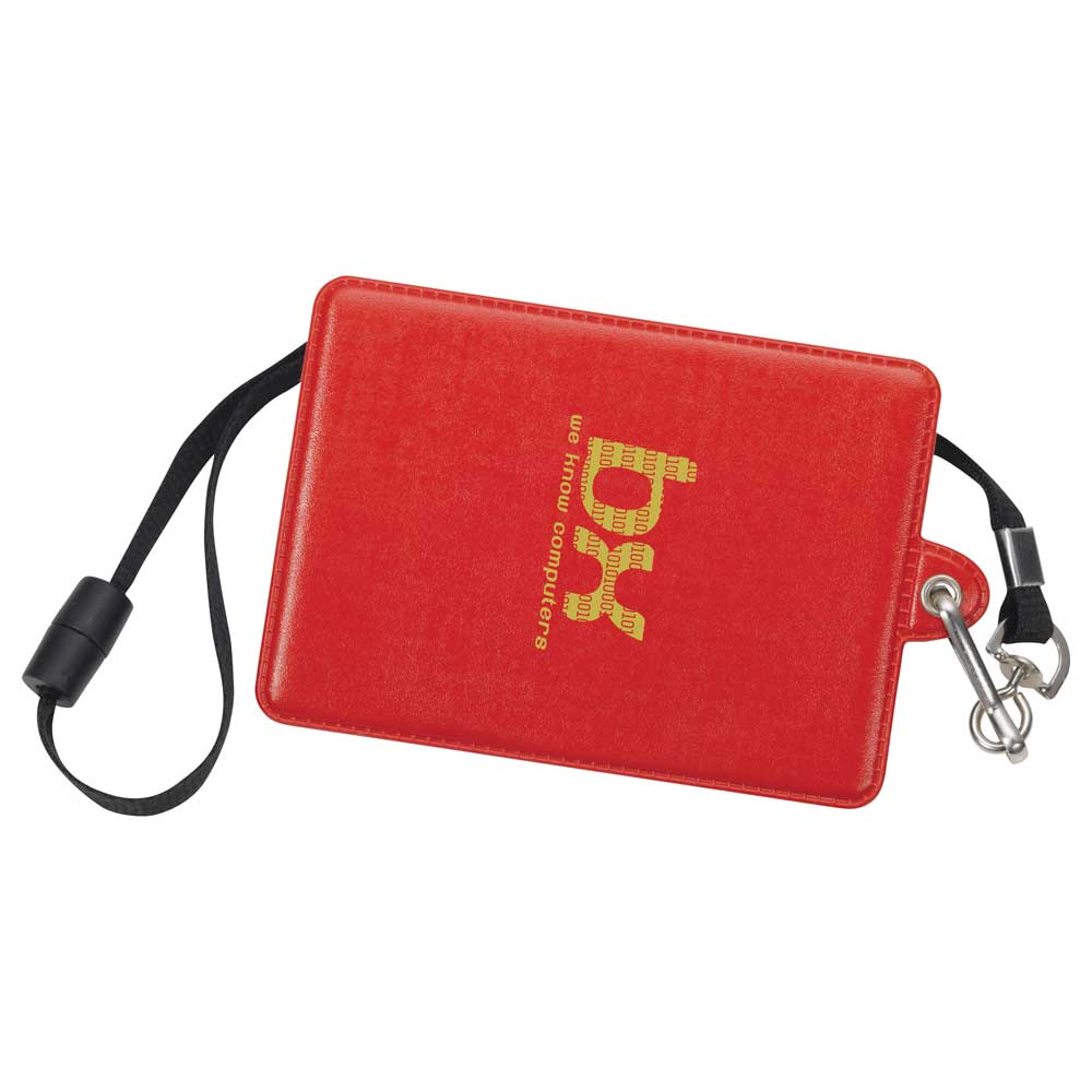 Glory I.D. Holder with Lanyard Red