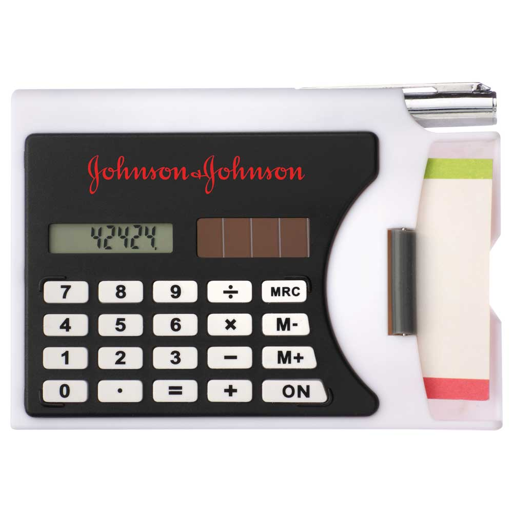 Business Card Holder with Calculator