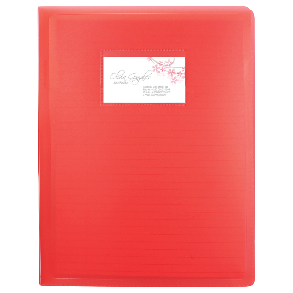 Translucent Padfolio with Pocket