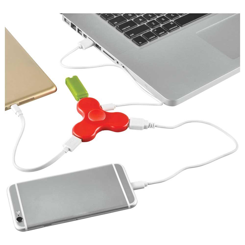 Spin-it Widget USB Hub Red