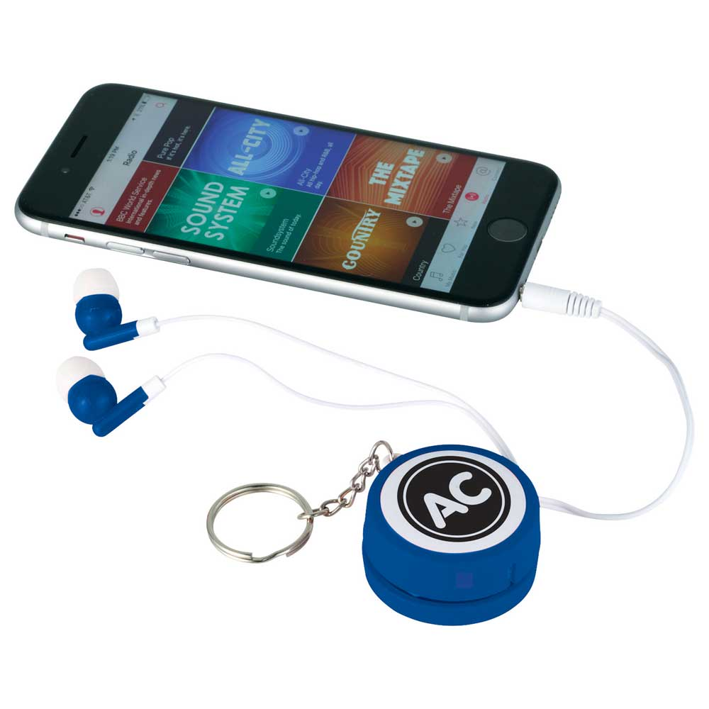 Orbit Earbud Wrap Key Tag