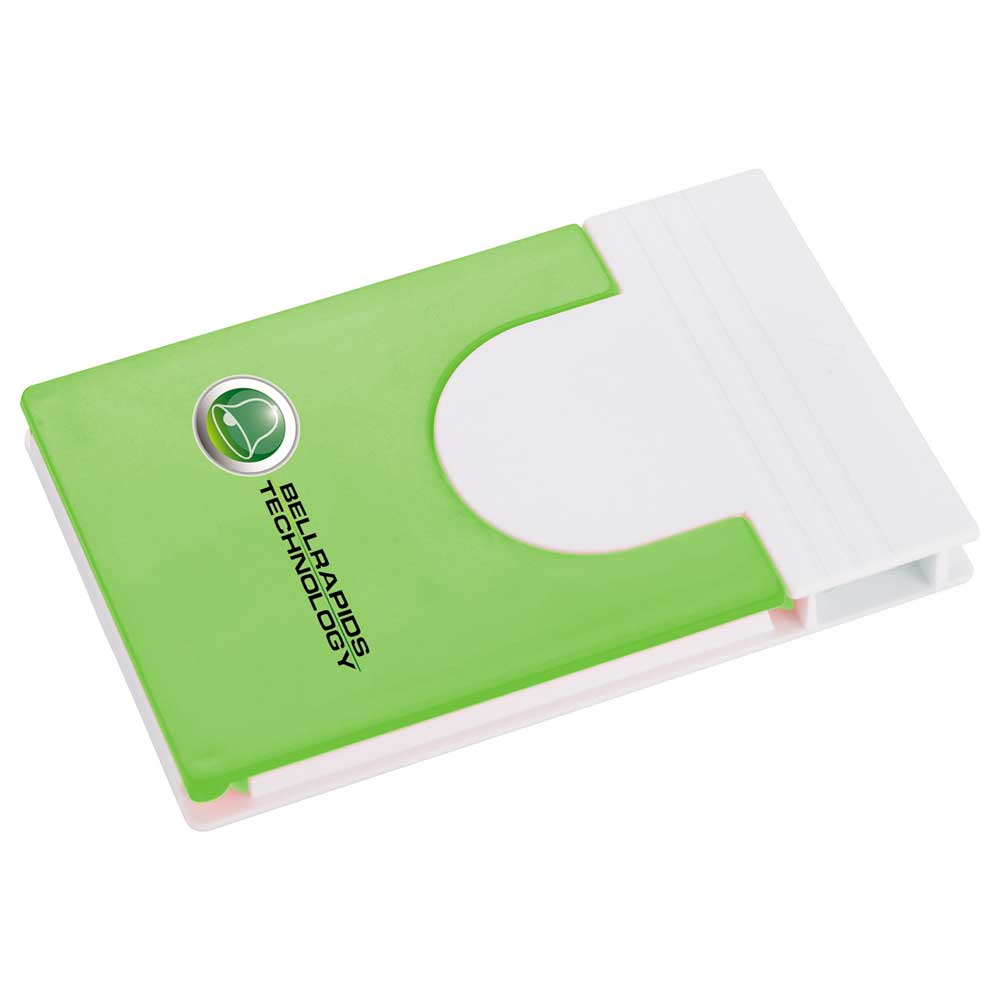 Snap Media Holder with Screen Cleaner Lime Green