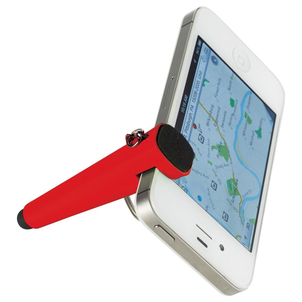 Taz Phone Holder-Stylus Keychain Red
