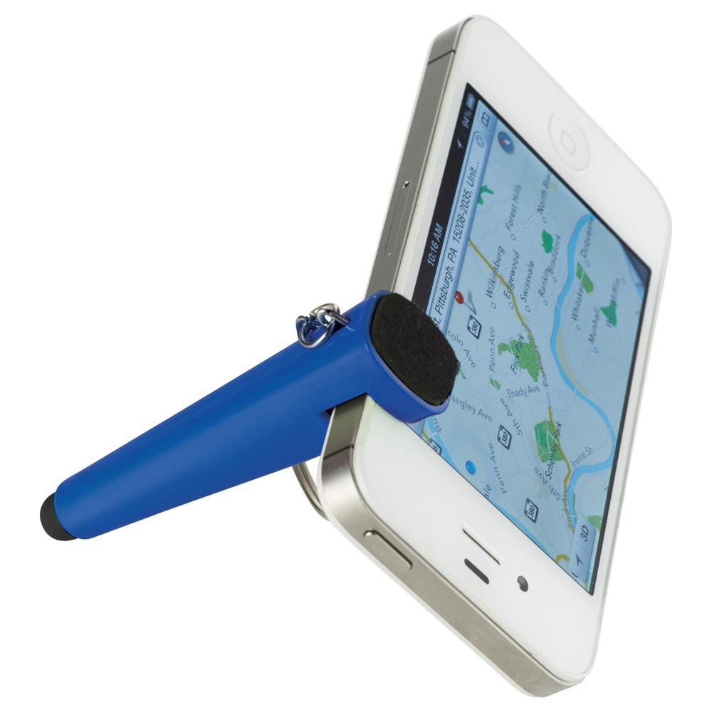 Taz Phone Holder-Stylus Keychain Royal Blue