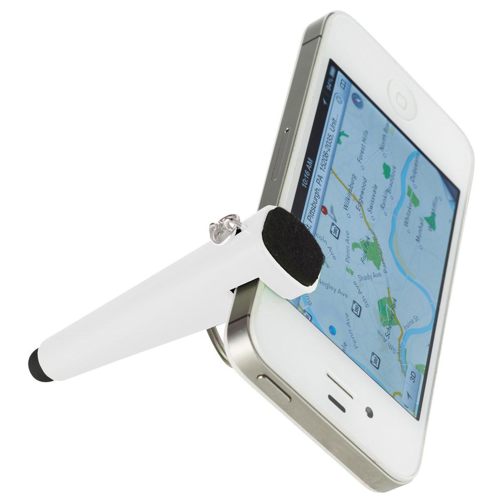 Taz Phone Holder-Stylus Keychain White