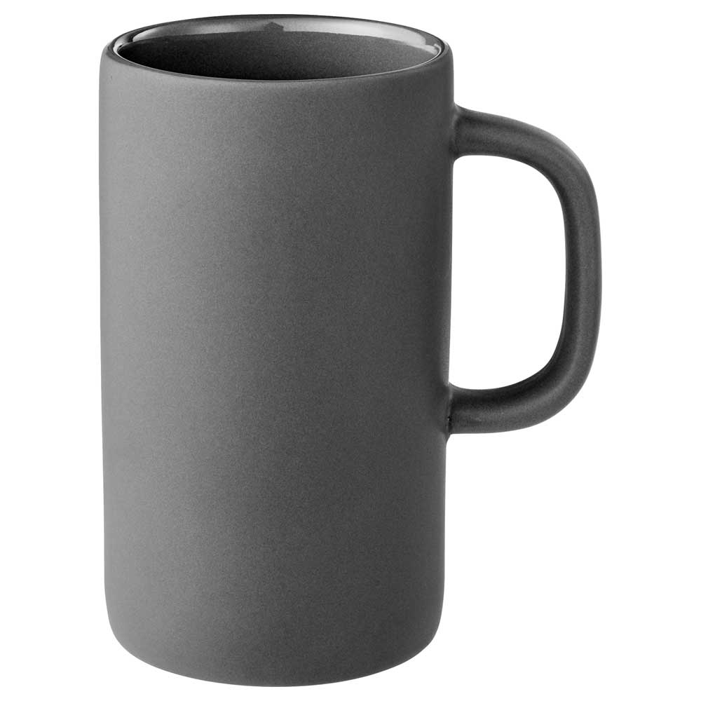 Tall 12oz Ceramic Mug Gray