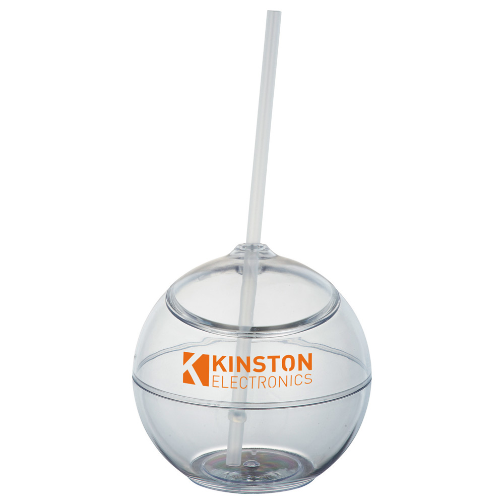 Fiesta Ball 20oz with Straw Clear