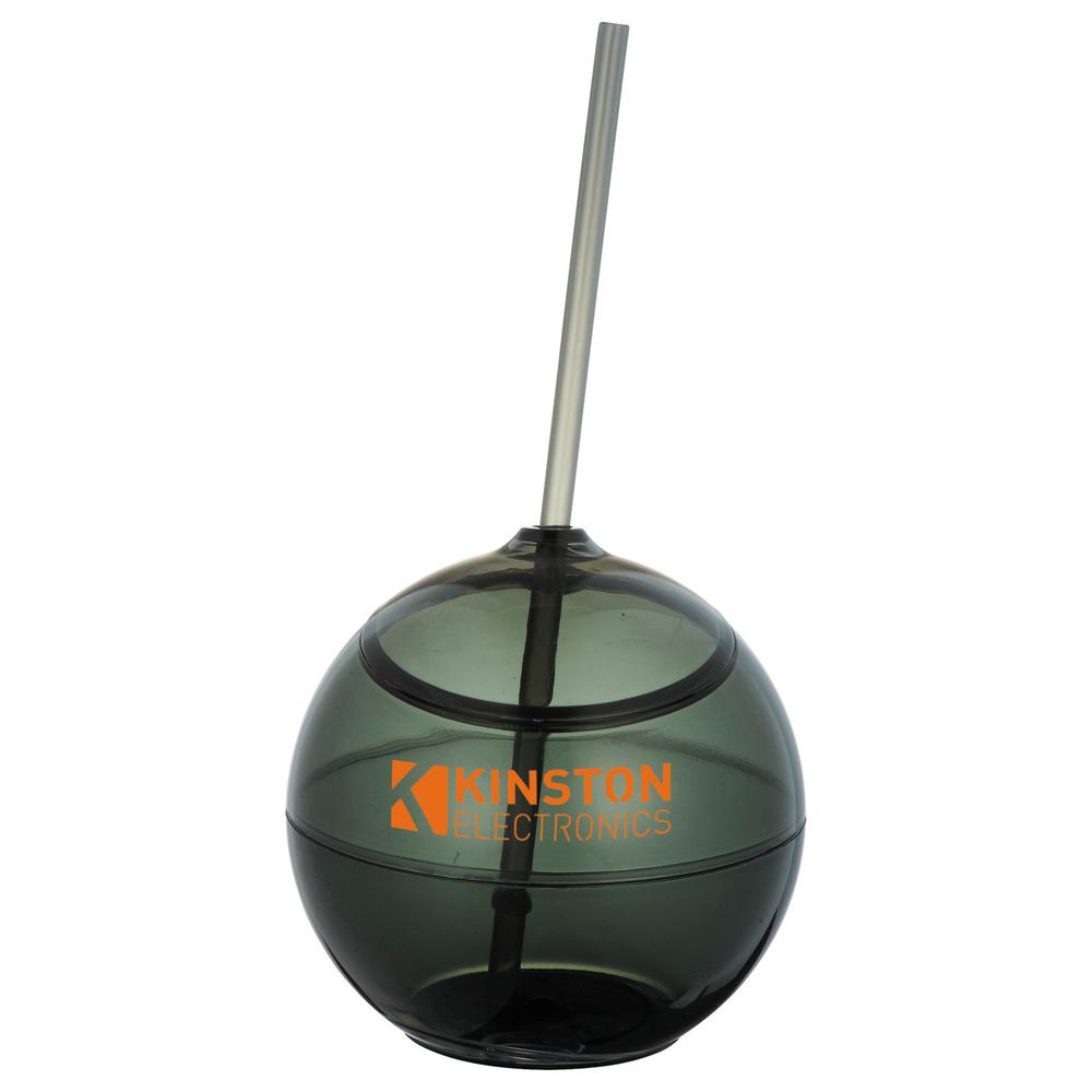 Fiesta Ball 20oz with Straw Translucent Black