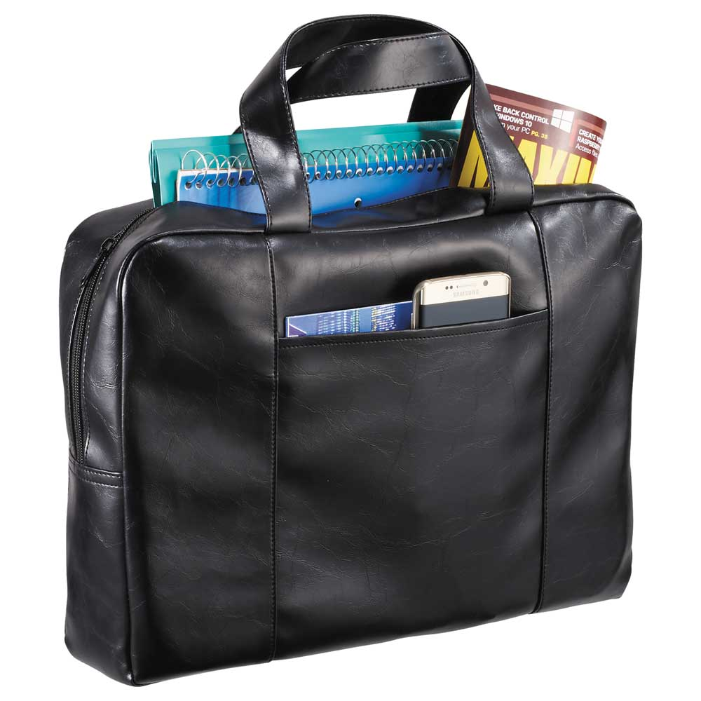 Classic Vinyl Zippered Briefcase
