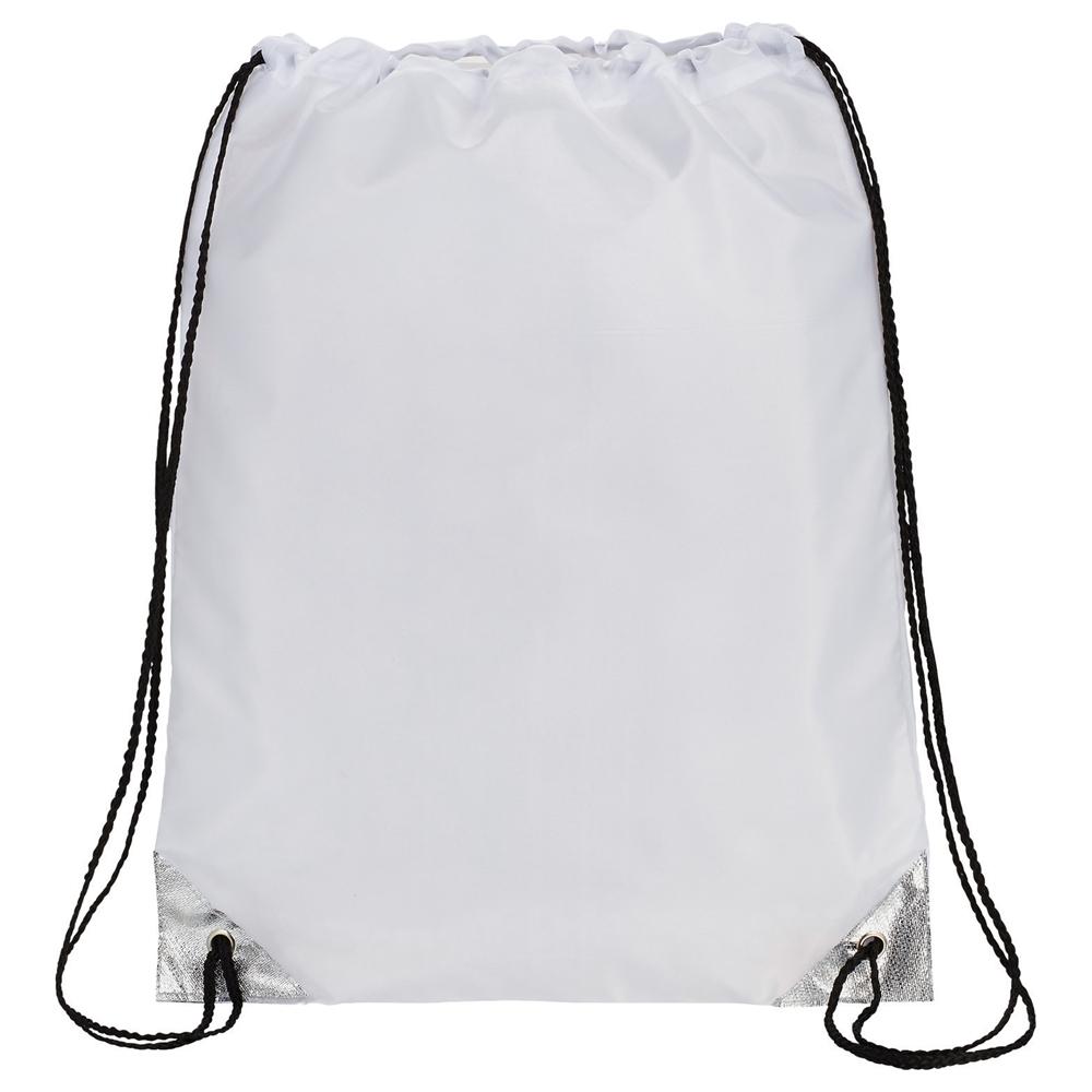 Metallic Accent Drawstring Bag