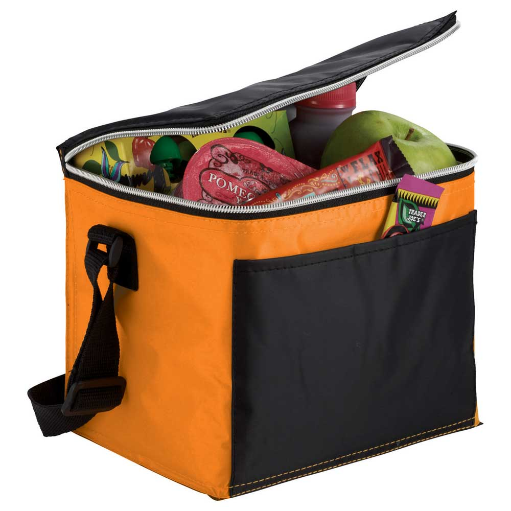 Connect 6 Can Cooler Orange