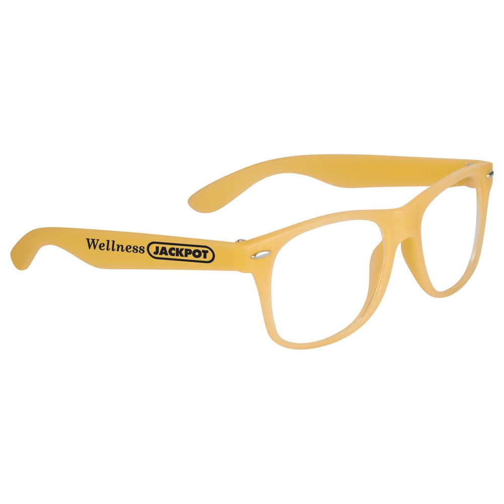 Glow-In-Dark Sun Ray Glasses Orange