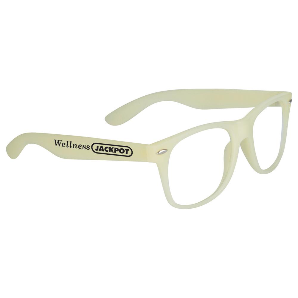 Glow-In-Dark Sun Ray Glasses Yellow