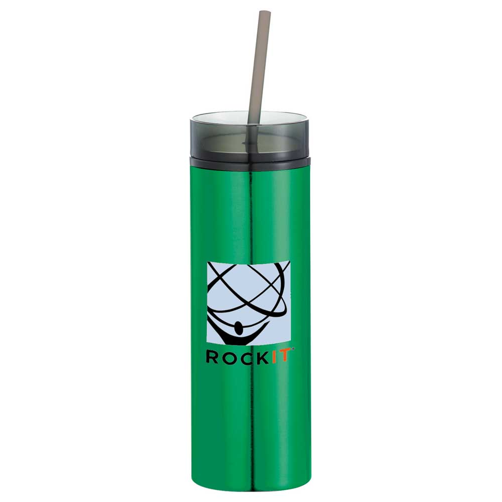 Hot & Cold Skinny Stainless Tumbler 15oz Green (GR)