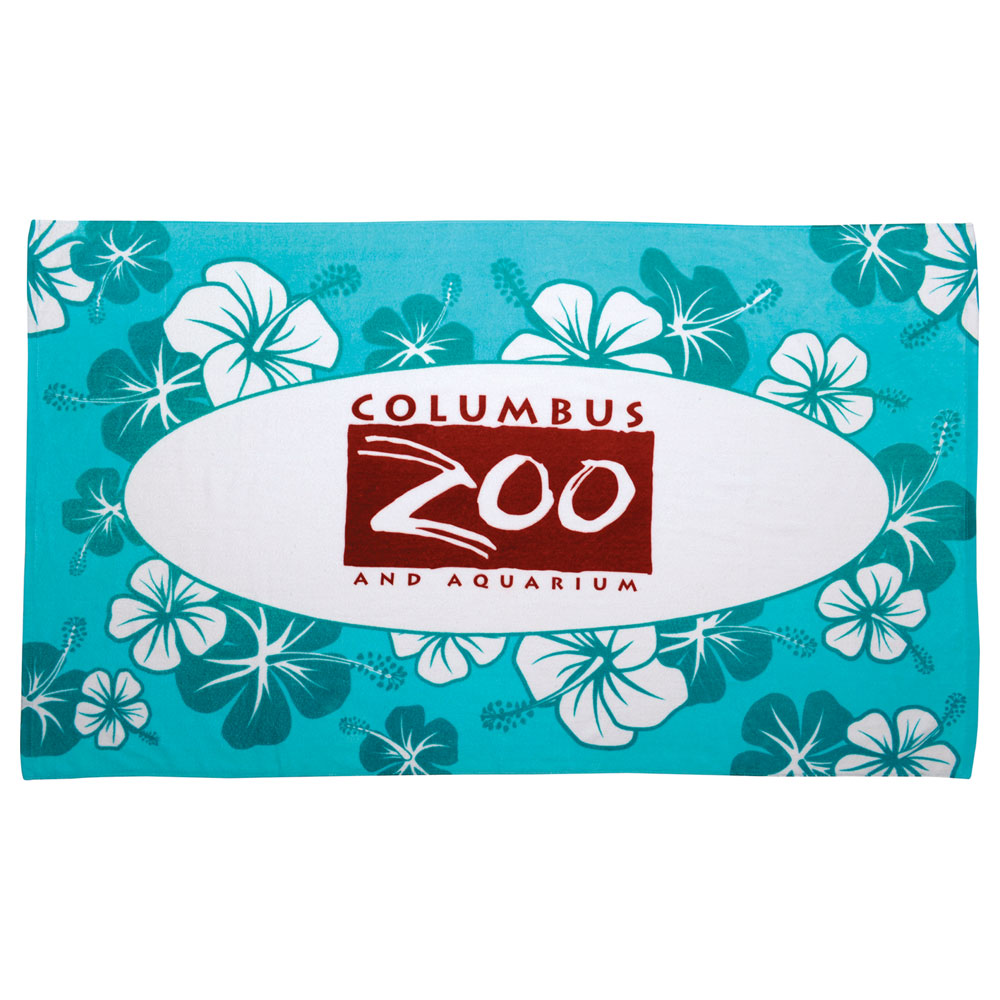 12lb./doz. Hibiscus Pattern Beach Towel