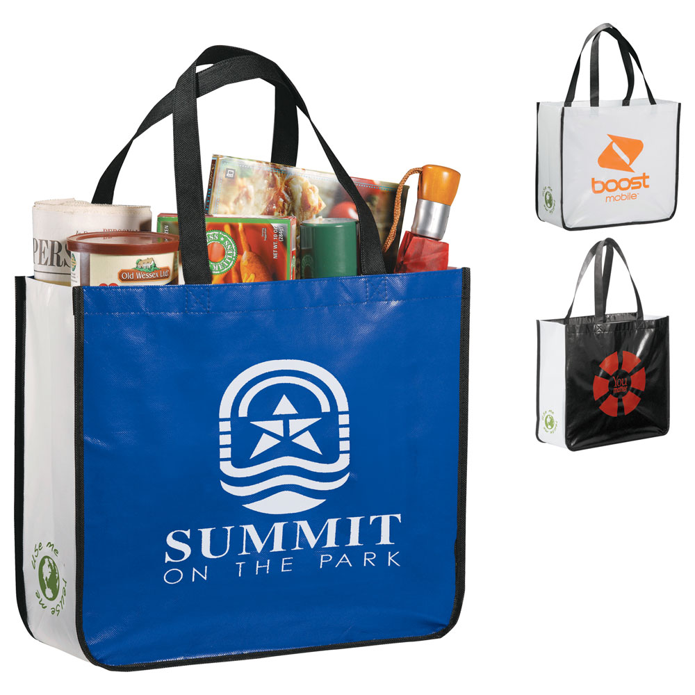 Large Laminated Non-Woven Shopper Tote Royal (RYL)
