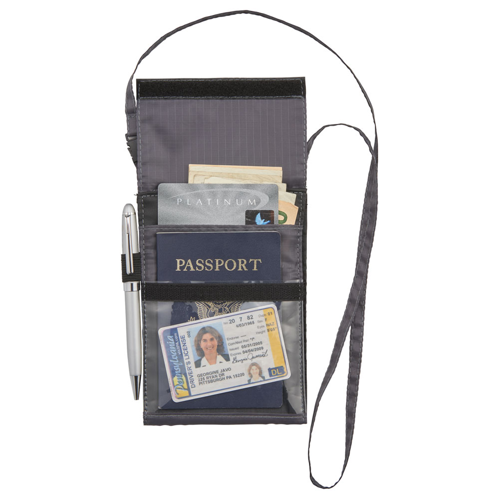 BRIGHTtravels RFID Passport Wallet with Lanyard