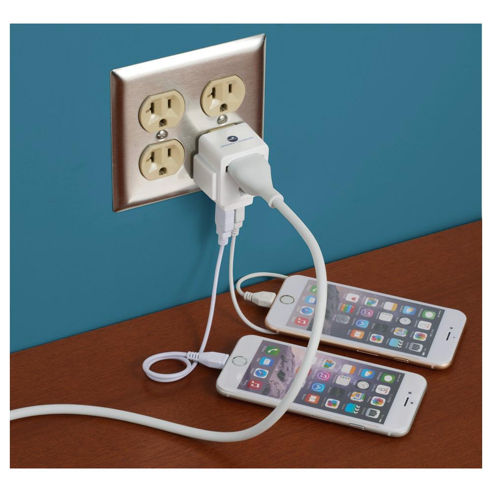 ETL Listed Element Dual USB AC Adapter