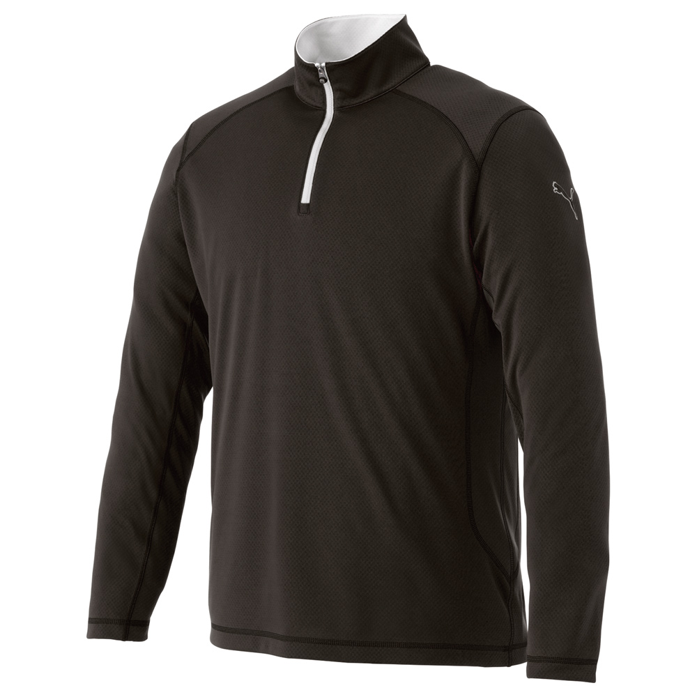 M - PUMA Golf Tech Qtr Zip Top