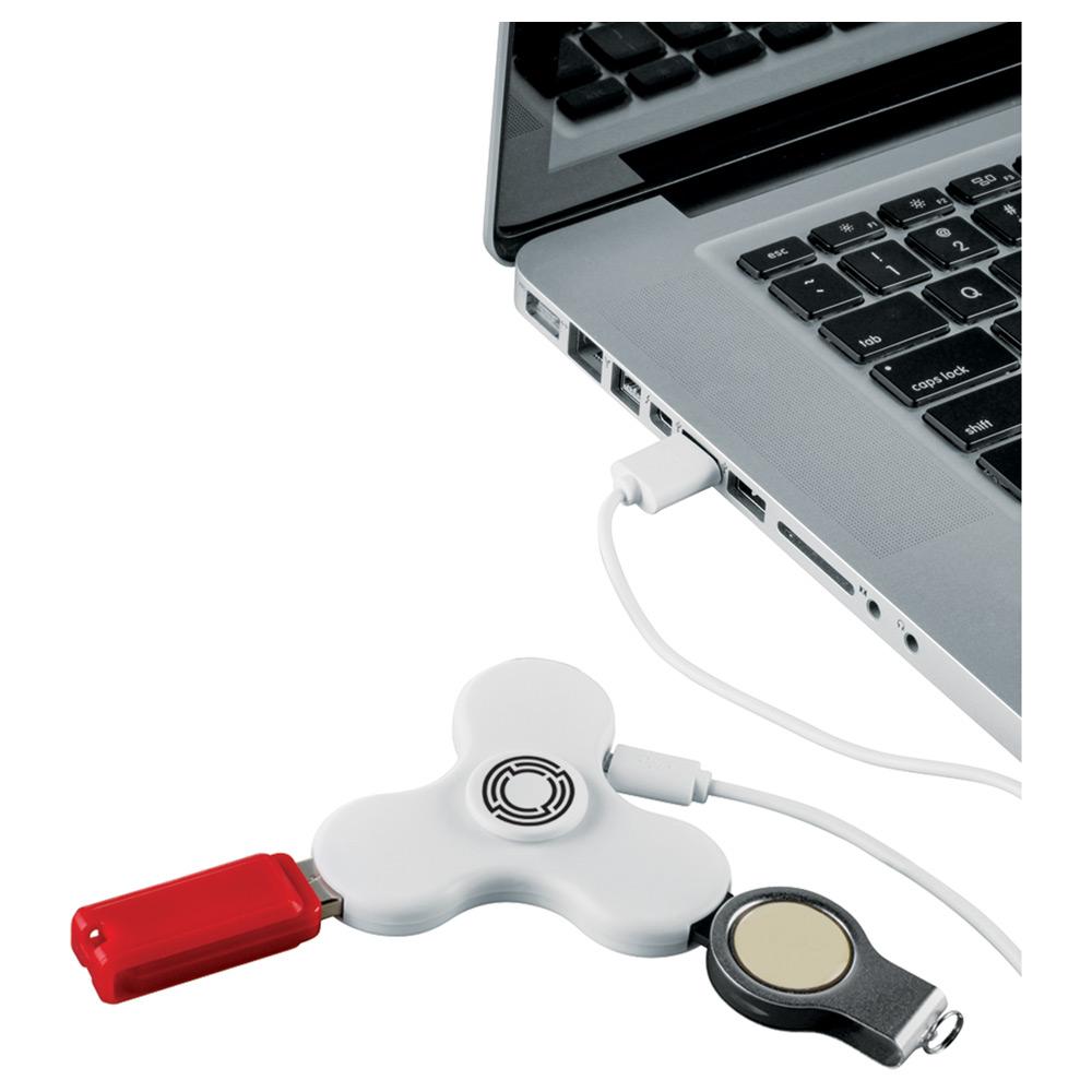 Spin-it Widget USB Hub White