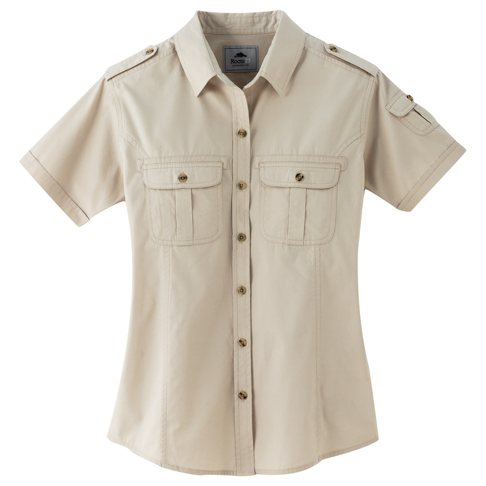 W-Grandbay Roots73 Short Sleeve Shirt Sandstone (152)