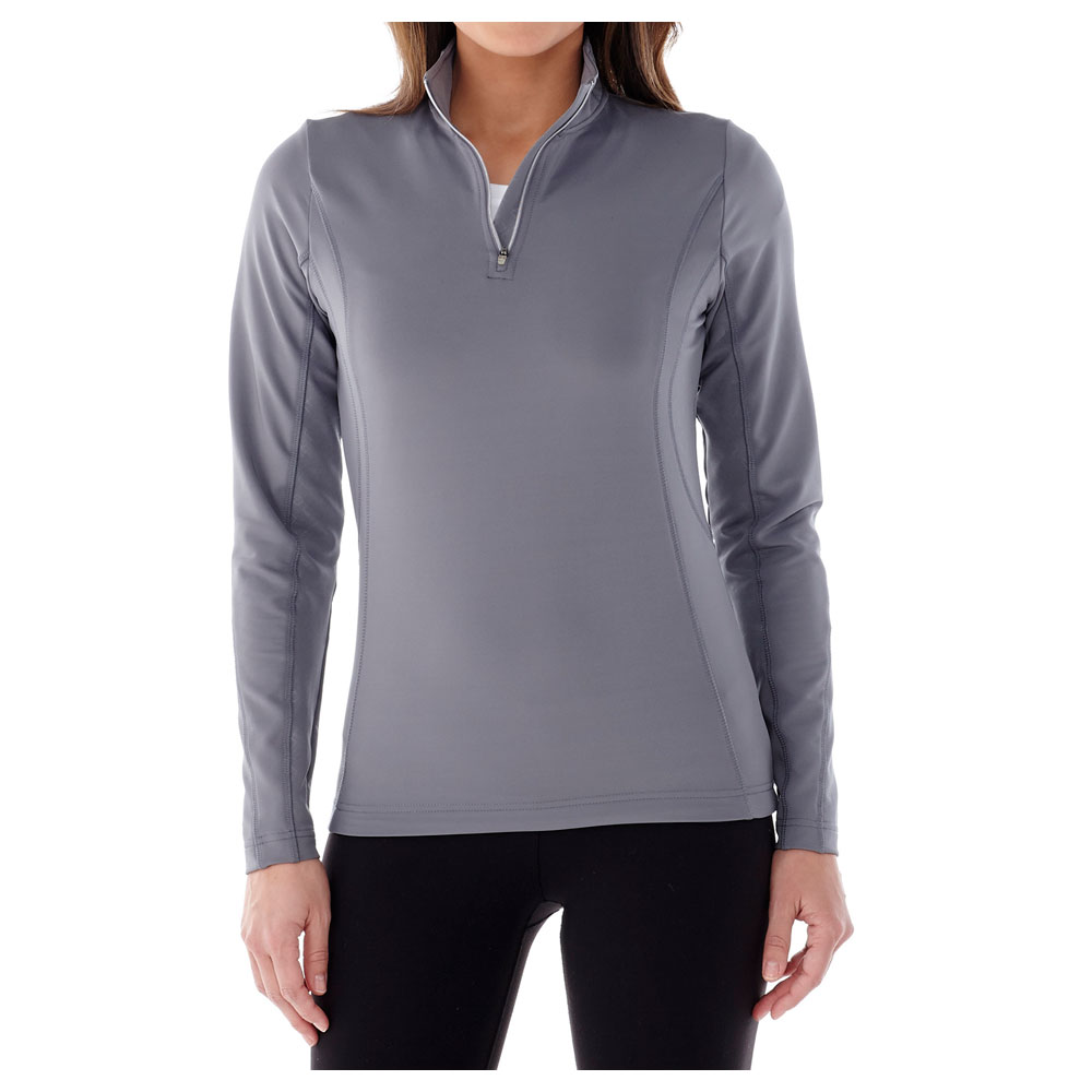 W-Caltech Knit Quarter Zip Steel Grey (945)