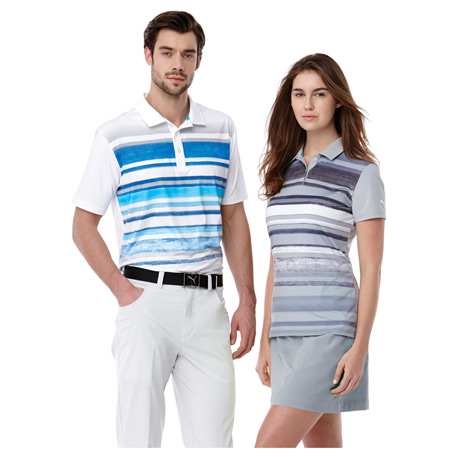 M-PUMA Washed Stripe Polo PC