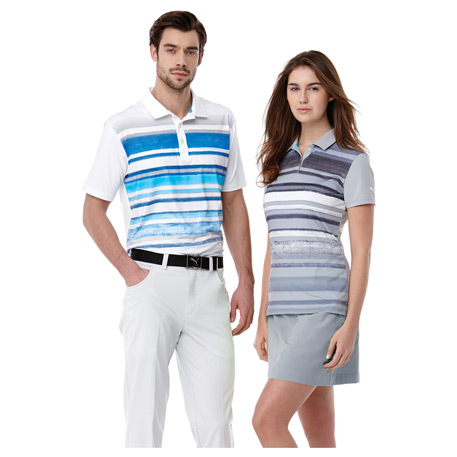 W-PUMA Washed Stripe Polo PC