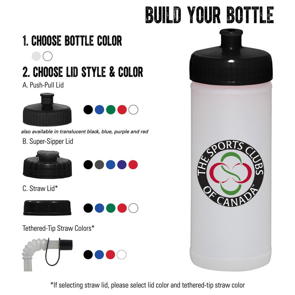 Classic Squeeze 16oz Nat/Wh Sport Bottle