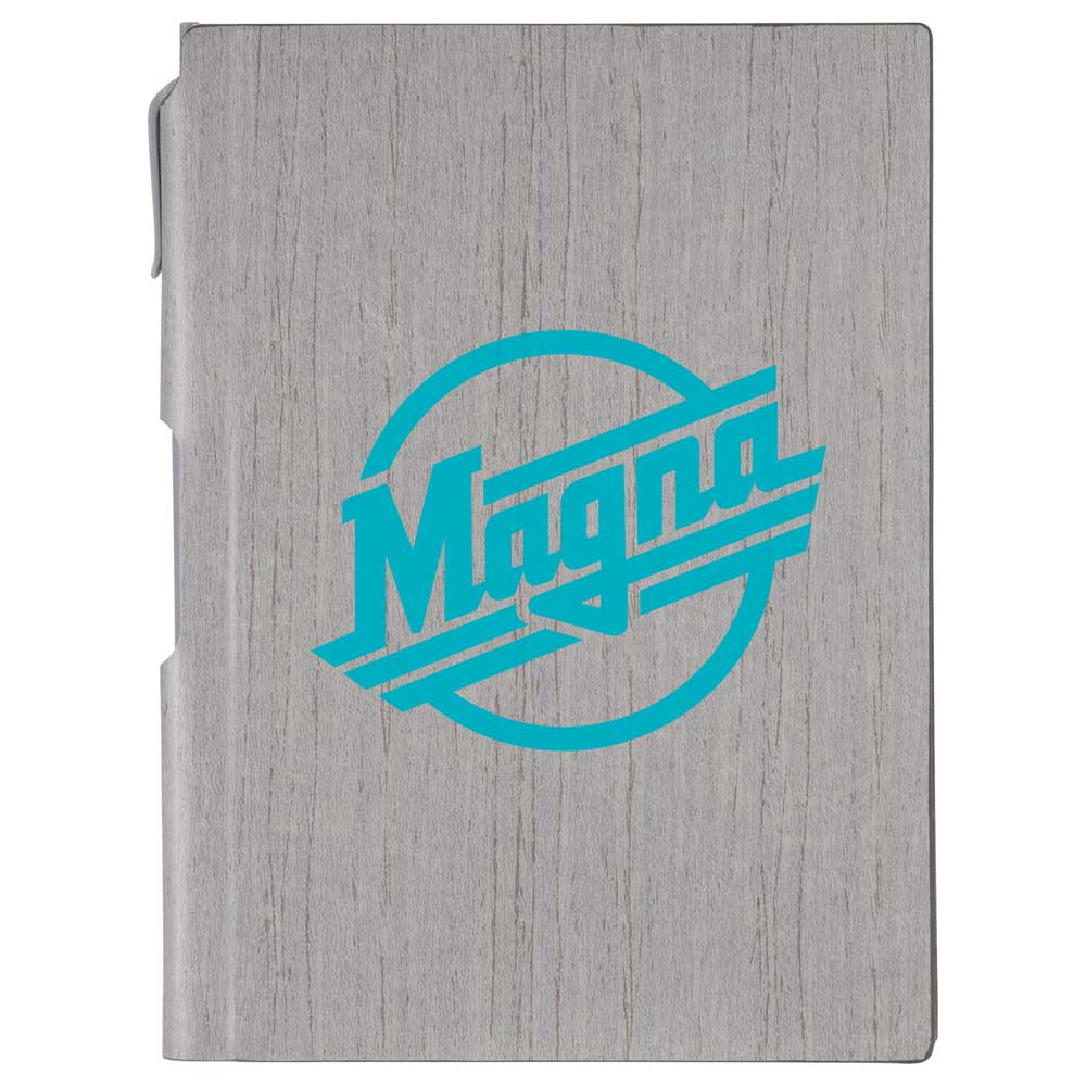 "6"" x 8.5"" Bari Notebook with Pen"