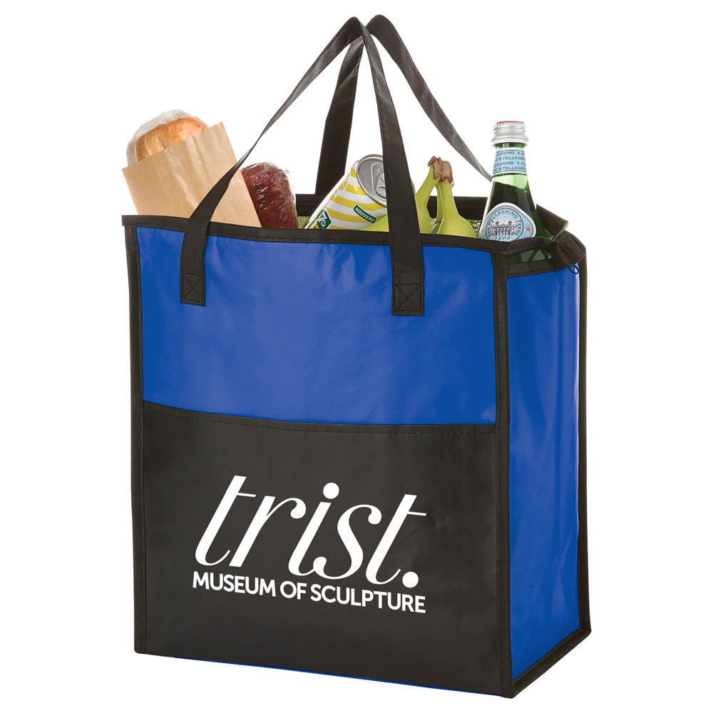 Matte Laminated Zippered Insulated Tote