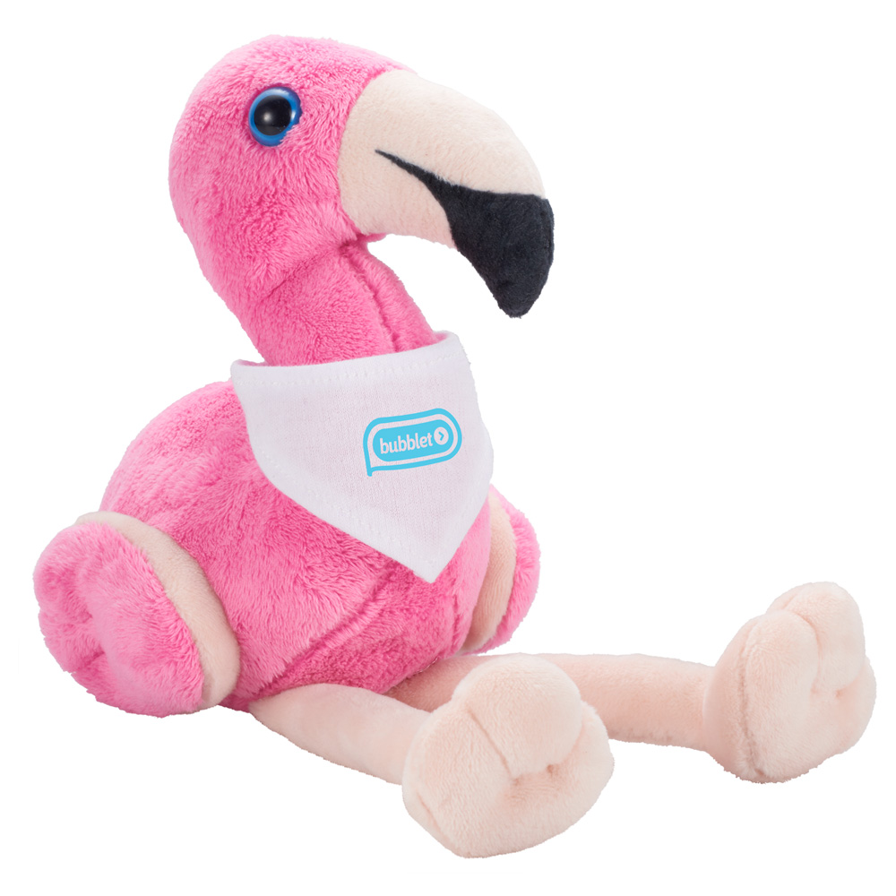 "6"" Plush Flamingo with Bandana"