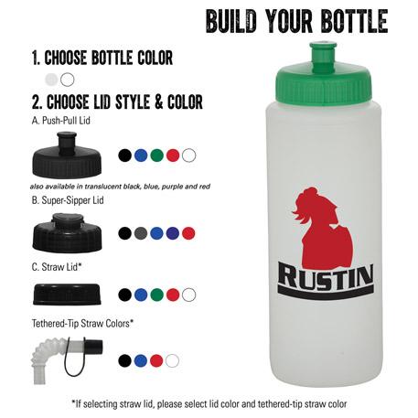 Classic Squeeze 32oz Nat/Wh Sport Bottle