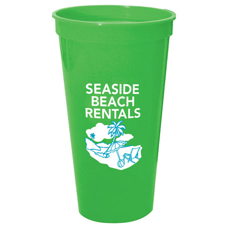 Solid 24oz Stadium Cup