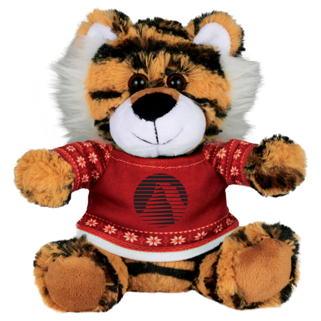 "6"" Ugly Sweater Plush Tiger"