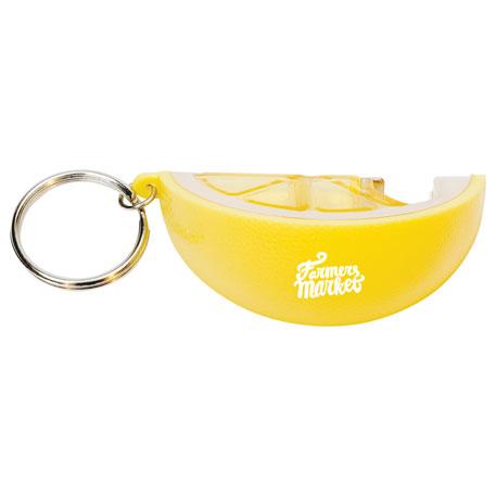 Lemon Keychain with Bottle Opener