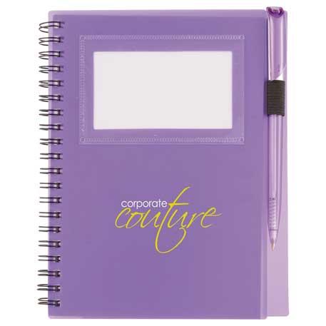 """5.5"""" x 7"""" Star Spiral Notebook w/Pen"""