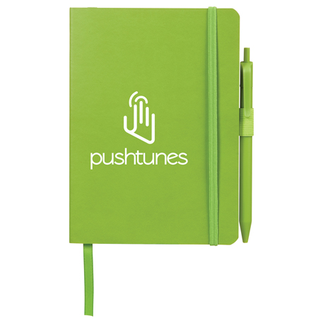 "5"" x 7"" Hue Soft Bound Notebook with Pen"