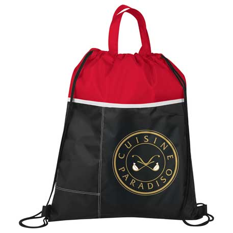 Two-Toned Drawstring Bag