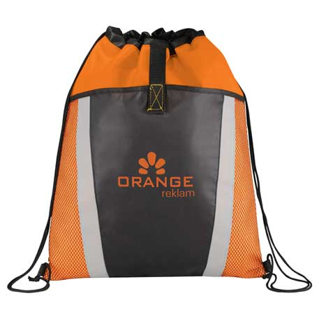 Vortex Mesh Pocket Drawstring Bag