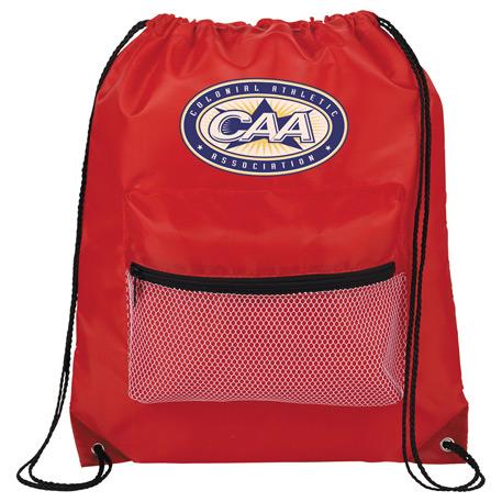 Mesh Front Pocket Drawstring Bag