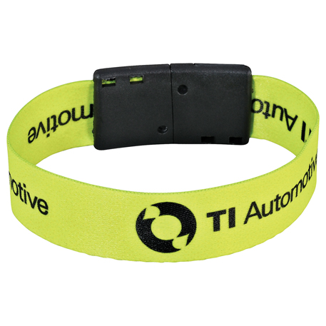 "Full Color 3/4"" Wristband w/ Clip"