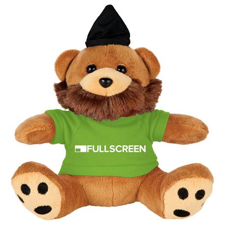 "6"" Hipster Plush Bear with Shirt"