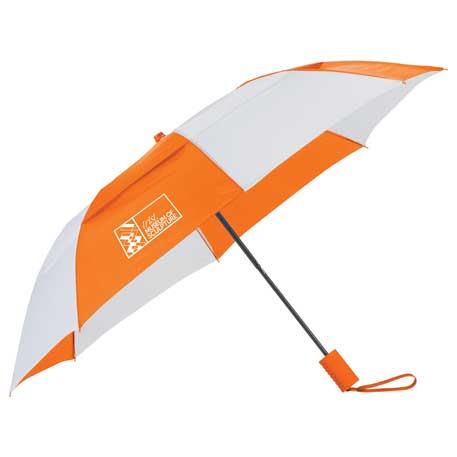 "42"" Auto Open Vented Folding Umbrella"