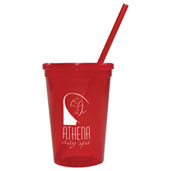 Jewel 16oz Tumbler w/ Lid & Straw
